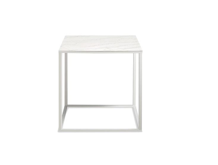 Venatino White Side Table ...