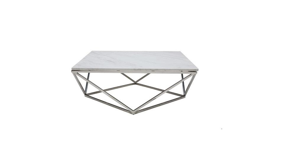 Venatino White Hexagonal Center Table ...